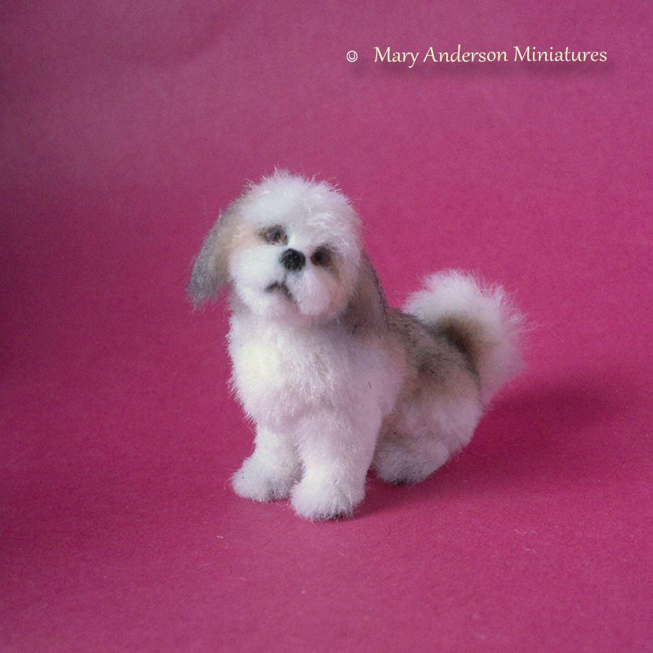 1 12 Ooak Realistic Shih Tzu Handmade Dollhouse Puppy Dog Miniature Maryanderson Miniature Animals Dogs And Puppies Puppies