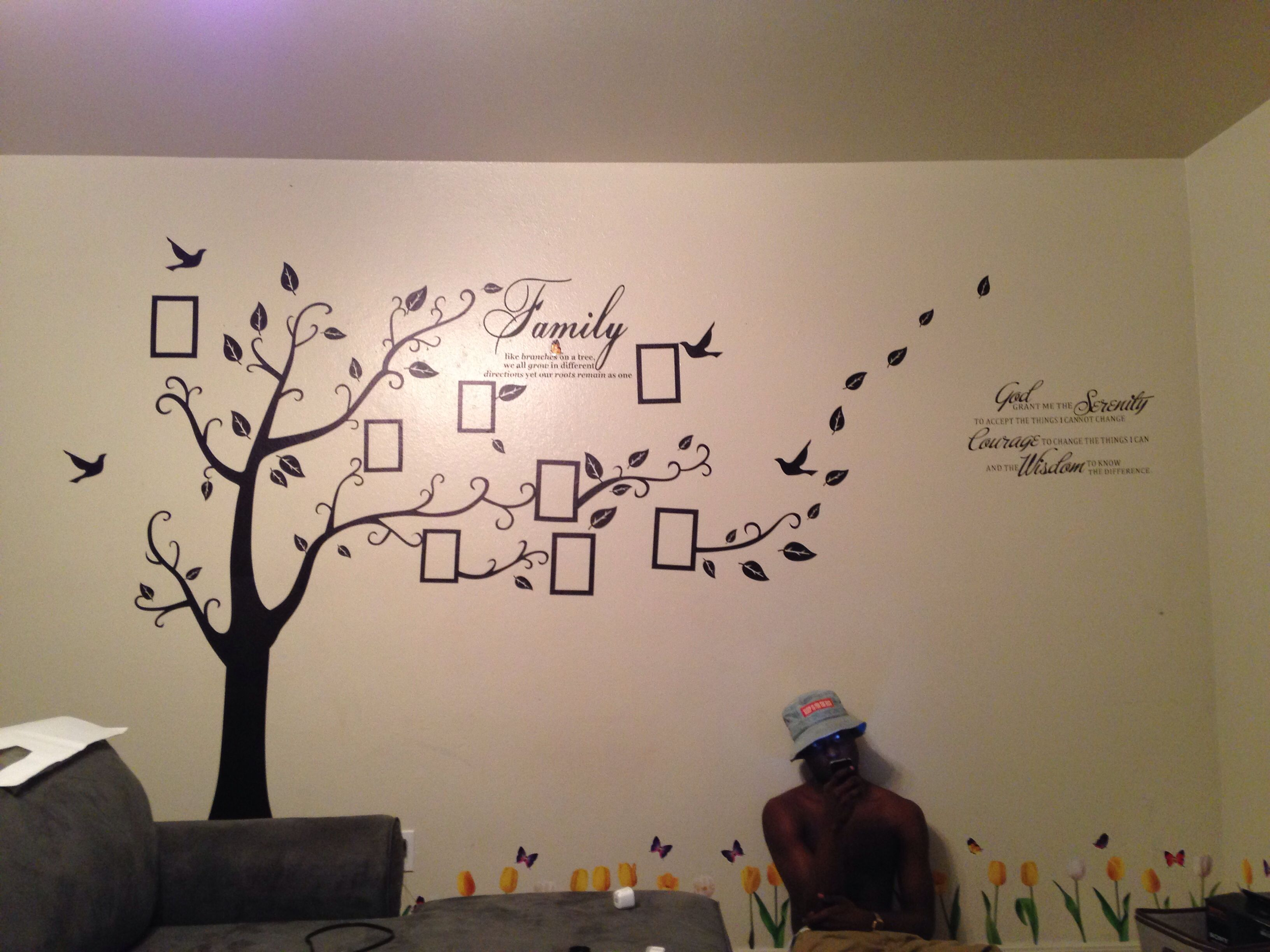 My Son Next To The Wall Stickers We Just Put Up Ideas For The - How do i put up a wall sticker