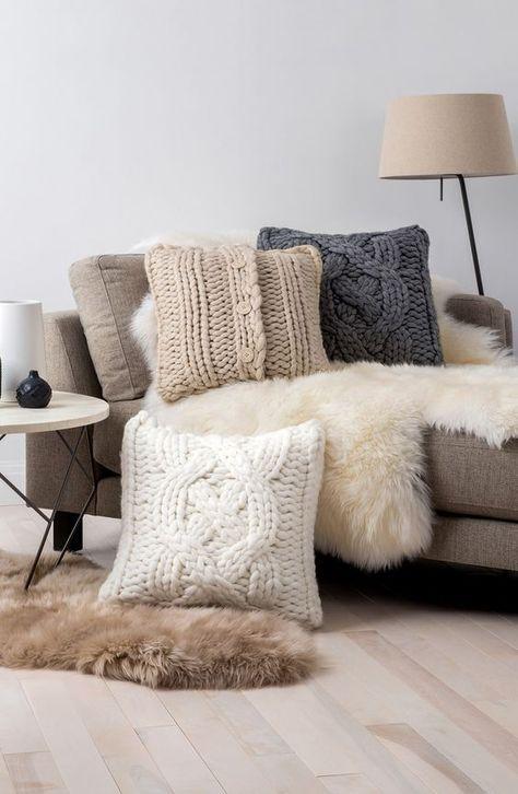Este invierno decora tu hogar con tejido de punto | dormitorios ...