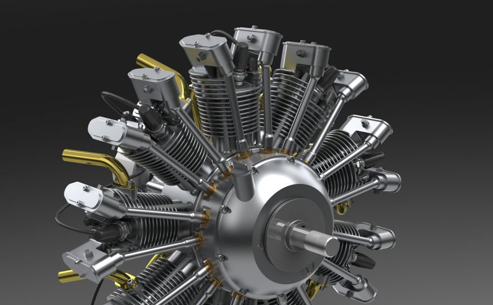 Solidworks hd wallpaper wallpapers radial engine mechanical engineering engineering - Jet engine wallpaper ...