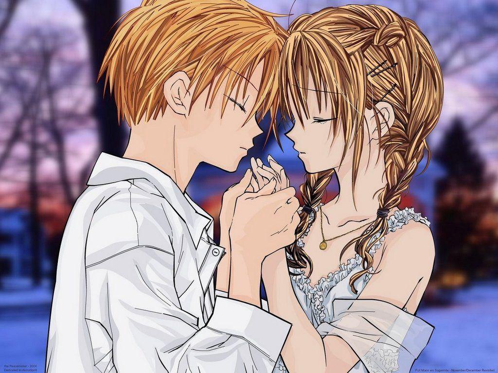 anime cartoon attractive pics Wallpaper Cute couple