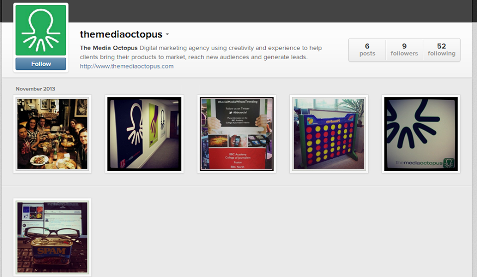 Check us out on #Instagram and give us a follow if you wish! http://instagram.com/themediaoctopus @The Media Octopus