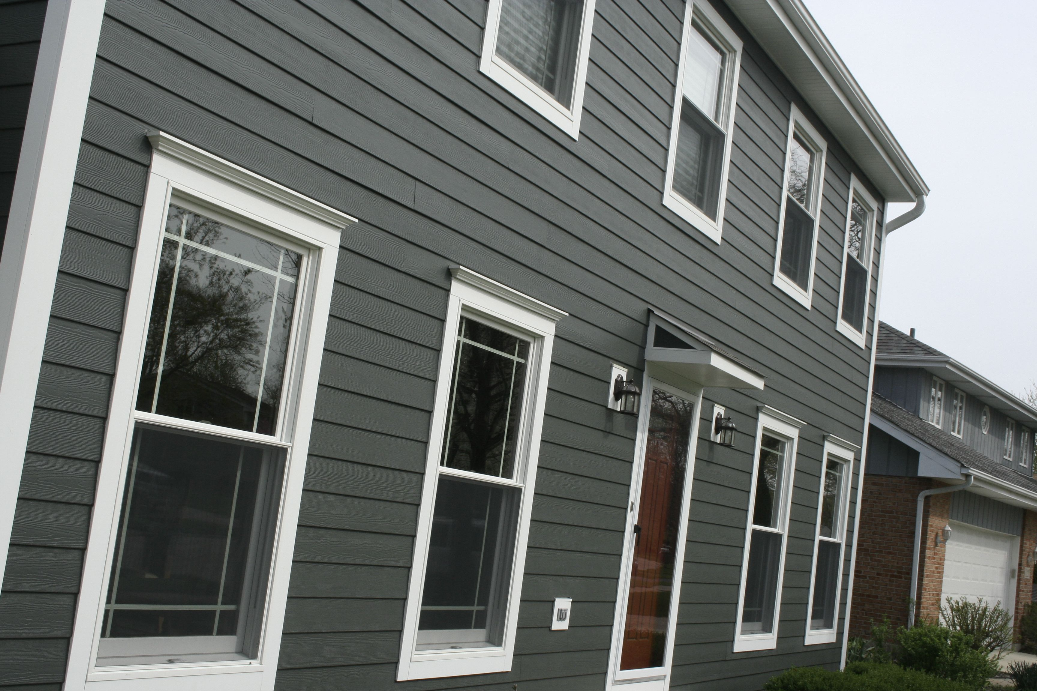 Iron Gray James Hardie And Pretty Red Door All With Opal Enterprises James Hardie Siding