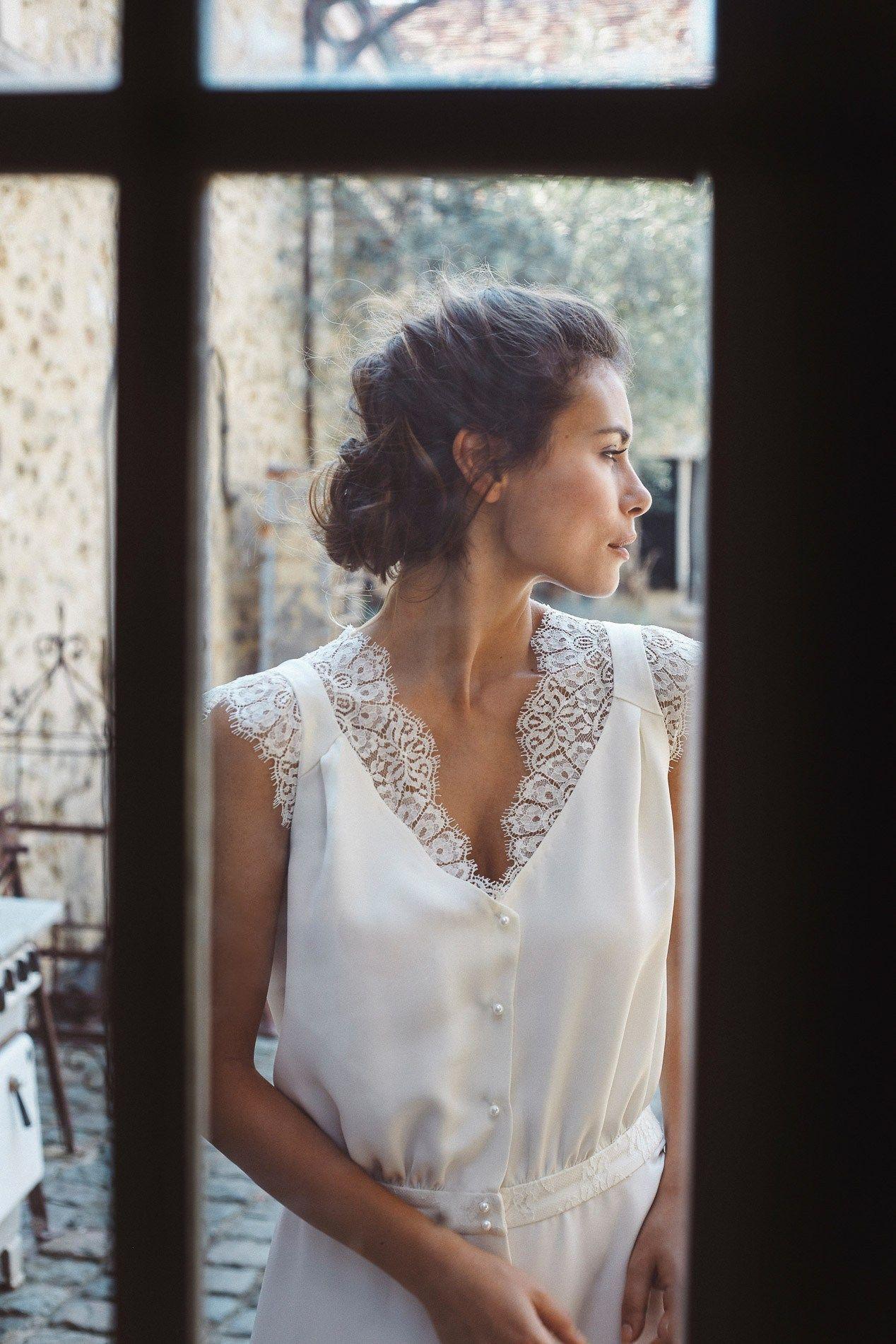 Robe de mariée sur mesure la collection de mathilde marie