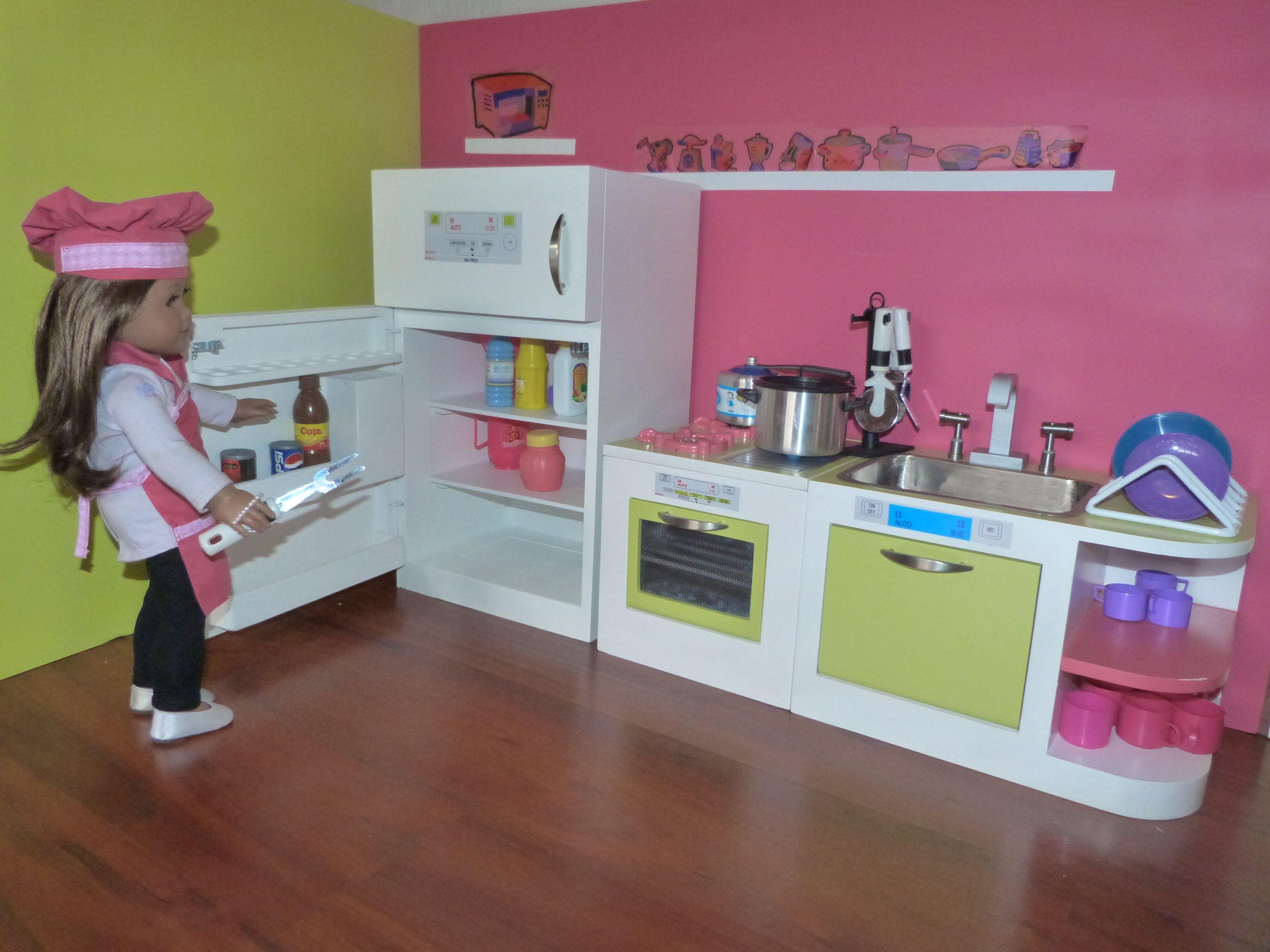 American girl kitchen sofi pinterest muebles para for Cosas de casa muebles