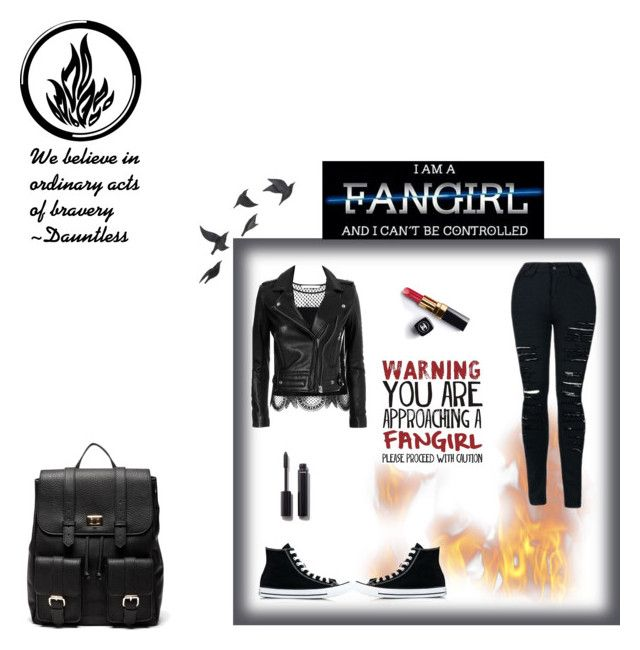 """""""Dauntless Fashion"""" by miss-glass-rose ❤ liked on Polyvore featuring Diane Von Furstenberg, IRO, Converse, Chanel, Jayson Home and Sole Society"""