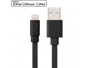 Câble USB à Lightning 8 Pins 1m Wkae® Certifié MFI - iPhone 6/6 Plus/5/S/C - Noir