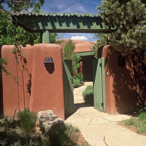 Traditional Adobe Southwest Style Santa Fe Home Builders