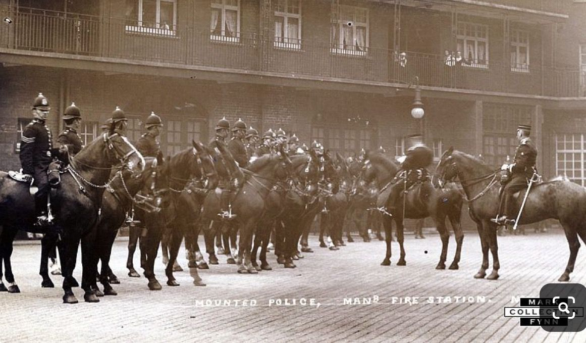 London Road fire station. Manchester police