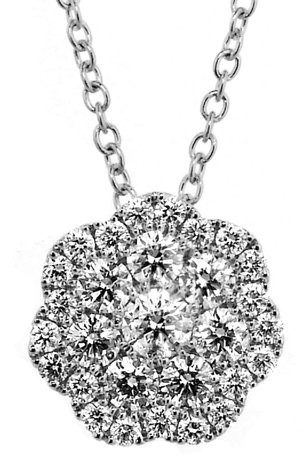 Diamond fashion pendant tcw g color vs clarity k white gold