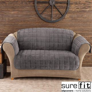 Shop For Sure Fit Deluxe Dark Grey Pet Sofa Cover. Get Free Delivery At  Overstock
