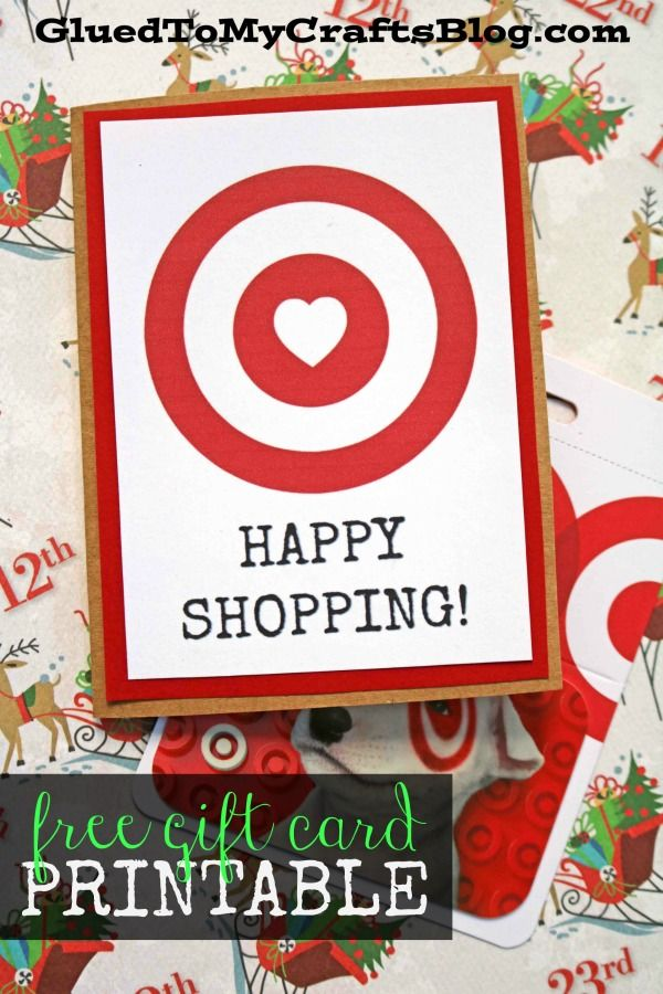 Happy Shopping Target Gift Card Printable