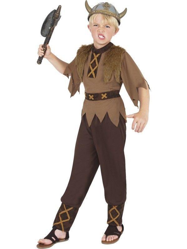 Viking Warrior Boys Costume Kids Fancy Dress School Book Week Outfit Historical