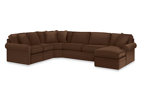 Lazyboy Collins Sectional In Cocoa Sectional Lazy Boy Furniture