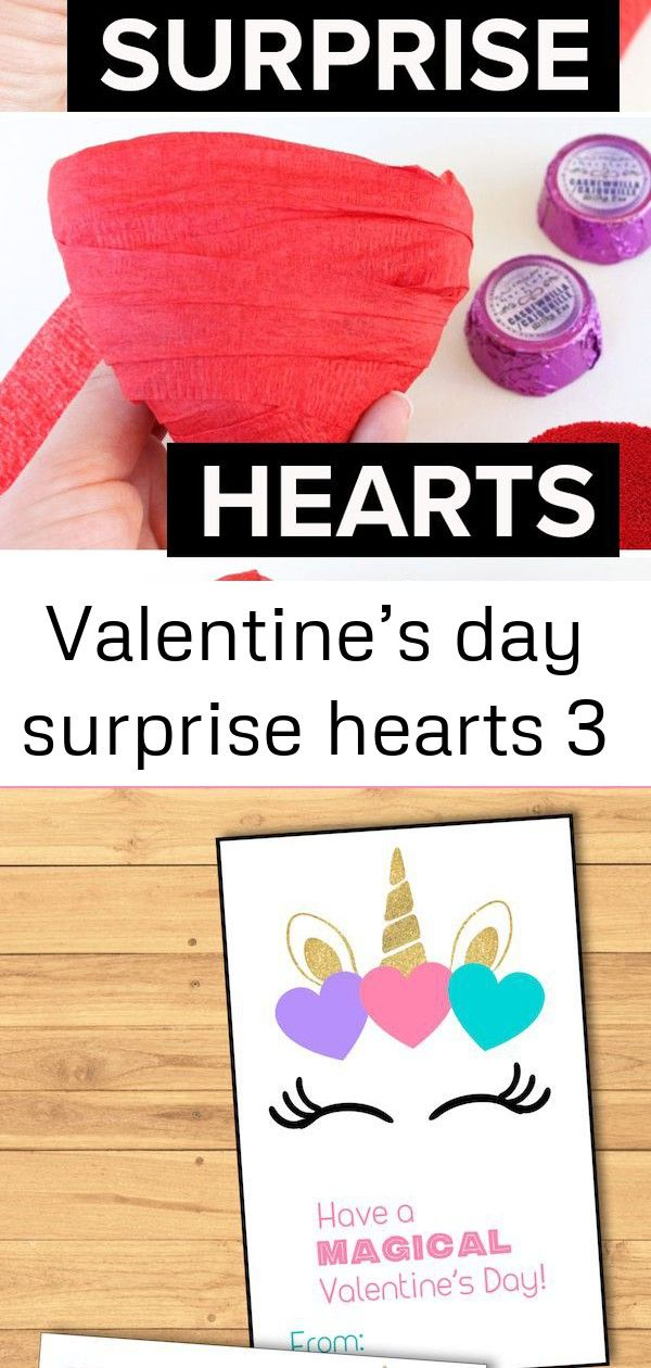 Valentines day surprise hearts 3 Have your little ones unwrap a Valentines Day surprises These surprise hearts are full of love and easy and fun to make Free Printable Un...