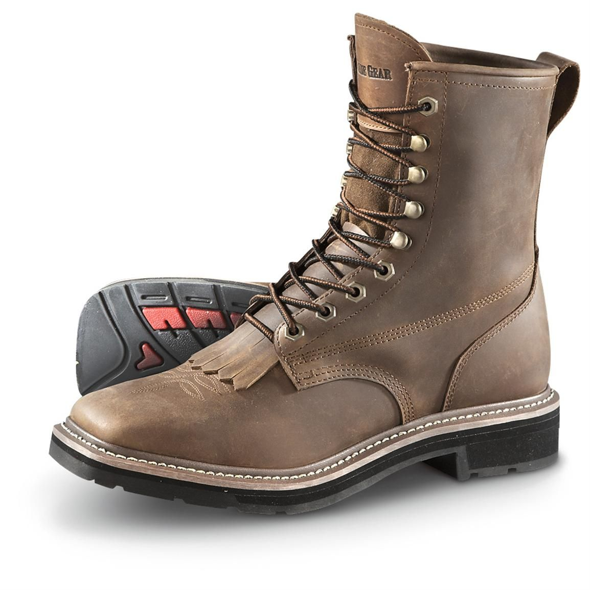 Guide Gear Men's Square Toe Lacer Work Boots | Squares, Toe and ...