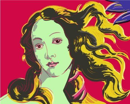 """Amazon.com: Diyoilpaintings Paint By Number Kit, Birth of Venus Red By Andy Warhol, 16""""x20"""": Toys & Games"""
