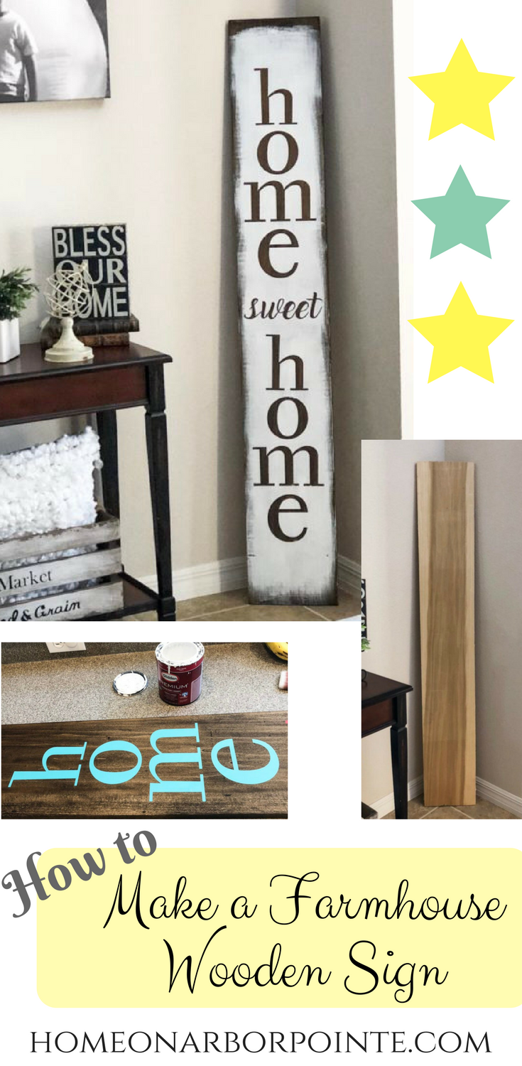 How to Make a Farmhouse Wooden Sign - Homeonarborpointe ...