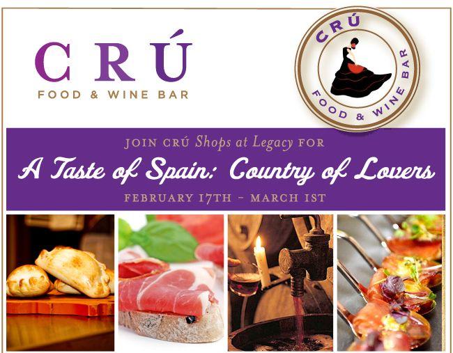 Taste of Spain at Cru - Shops at Legacy, Plano Texas -Cru Food & Wine Bar - Plano Homes & Land Real Estate