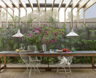 Rustic Outdoor Space by Isay Weinfeld and Isay Weinfeld in São Paulo, Brazil