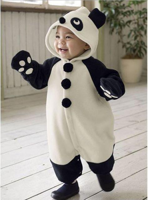 5551c7d687d8 disfraz oso panda | Pandas | Disfraz panda, Mameluco bebe y ...