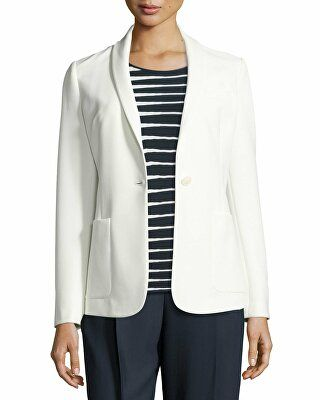 Armani Collezioni Designer Tech-Stretch One-Button Jacket