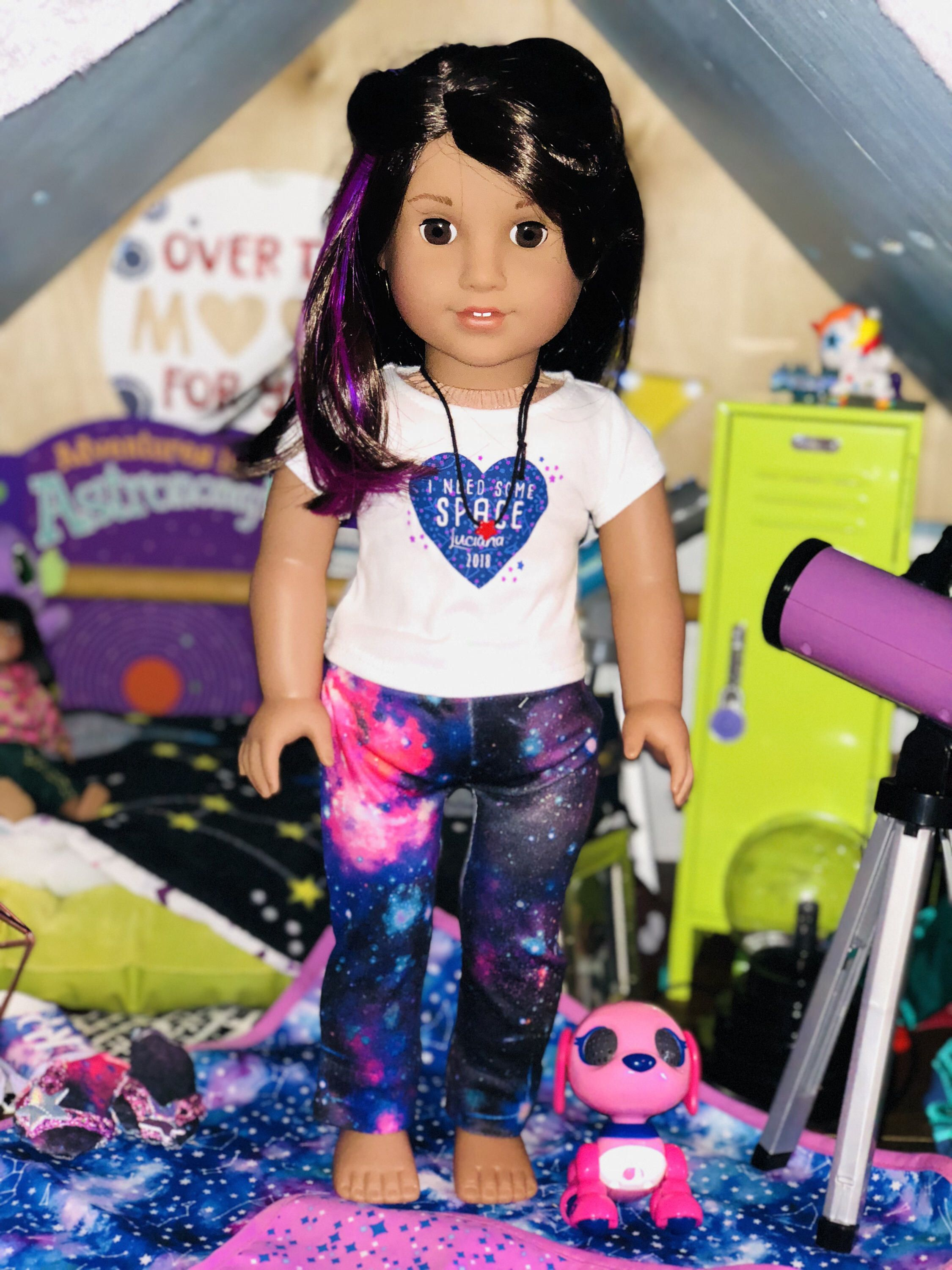 65fc26ede3f Luciana Vega Inspired Galaxy Knit Outerspace Legging Fits 18 Inch American  Girl Doll by MermaidsAndDolls on