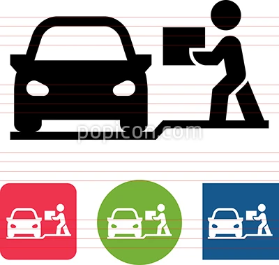 Online Order Curbside Pickup Vector Icon Vector Icons Icon Online