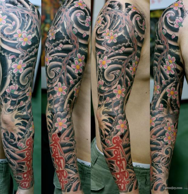 Japanese Cherry Blossoms Tattoo Flower Tattoo Sleeve Sleeve Tattoos Tattoos