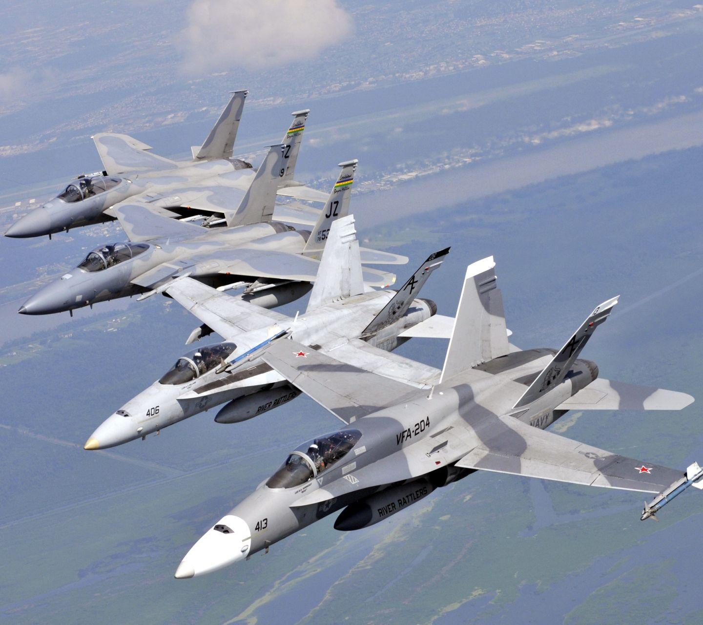 戦闘機中隊 ニューオリンズ上空 スマホ壁紙に使える写真集 乗り物