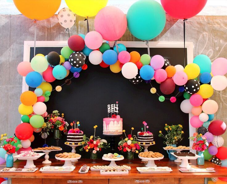 Kids Party Balloon Garland Planning Parties Pinterest