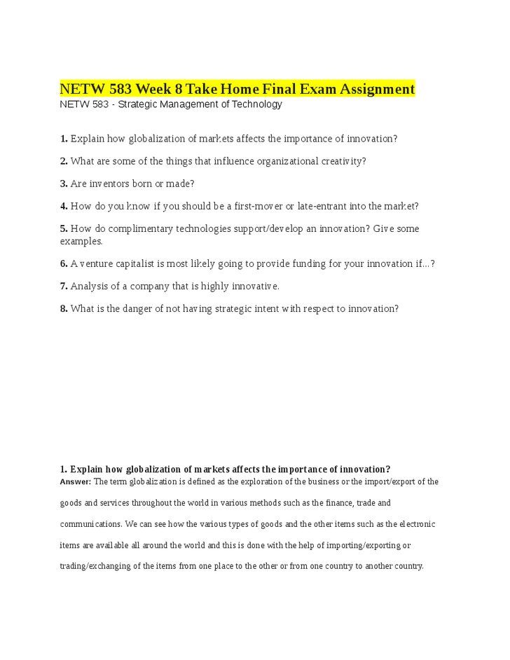 Globalisation Ielts Reading Answers