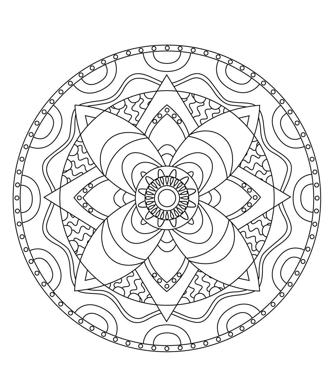 Coloriage mandala garcon dessin - Coloriage mandale ...
