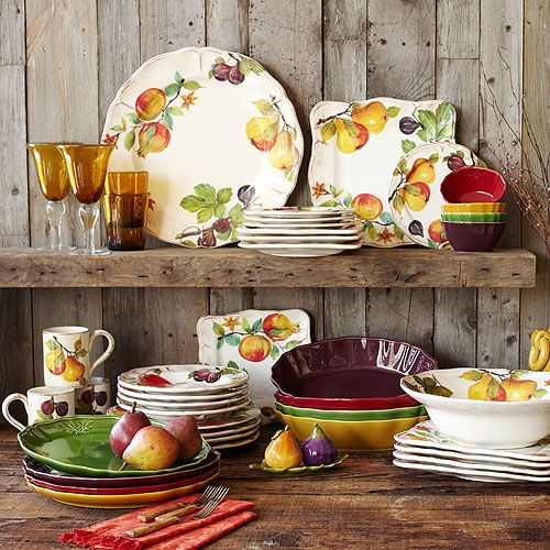 fall dinnerware | Fall Colors - On Sutton Place & Fall Colors | Dishes Dinnerware and Tablewares