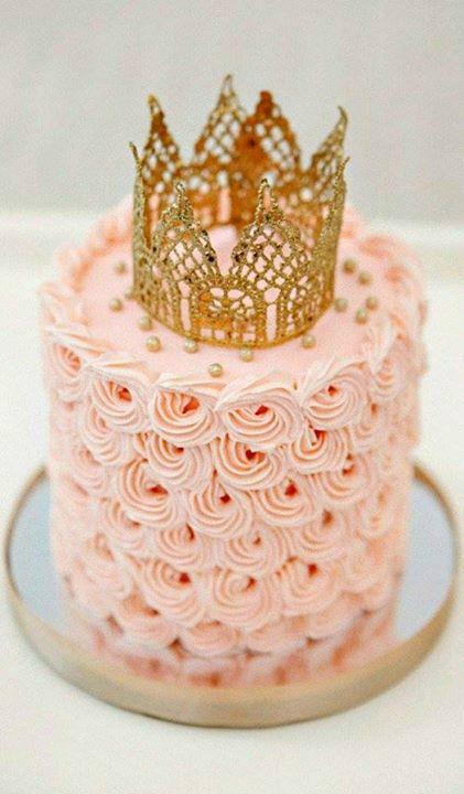 No Fondant Yummy Princes Cake Swirl Cake Pink First Birthday