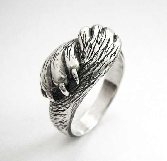 Paw to Paw - Silver Cat Ring - Cat Lover Wedding or Engagement Ring - Handmade - Sterling Silver - Rickson Jewellery on Etsy, $135.00