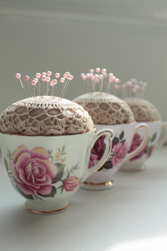 Upcyle inspiration - some lovely ideas for when you are wondering what to do with chipped china
