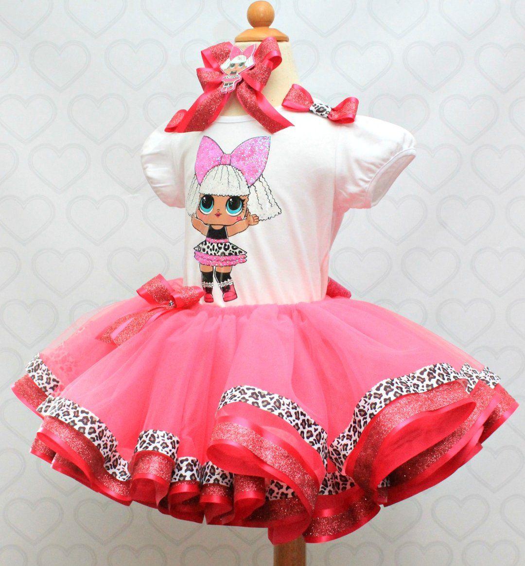 Kids Girls LoL Surprise Dolls  Dress Costume Layered Mesh Princess Dresses 3-10Y