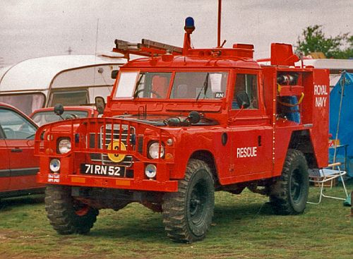 Land Rover Fire Engine, Royal Navy