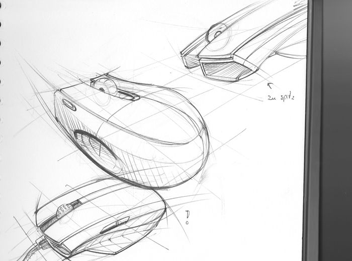 Line Drawing Mouse : Design sketch by hank chien cheng chen at coroflot.com