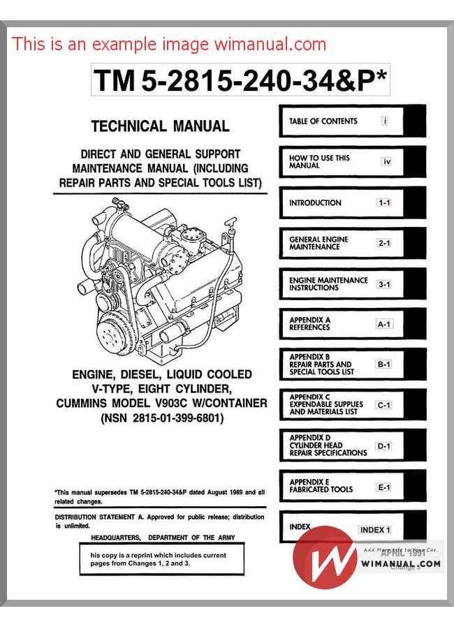 Cummins Engine Diesel Model V903c Service Manual Diesel Trucks Cummins Engine Trucks Lifted Diesel