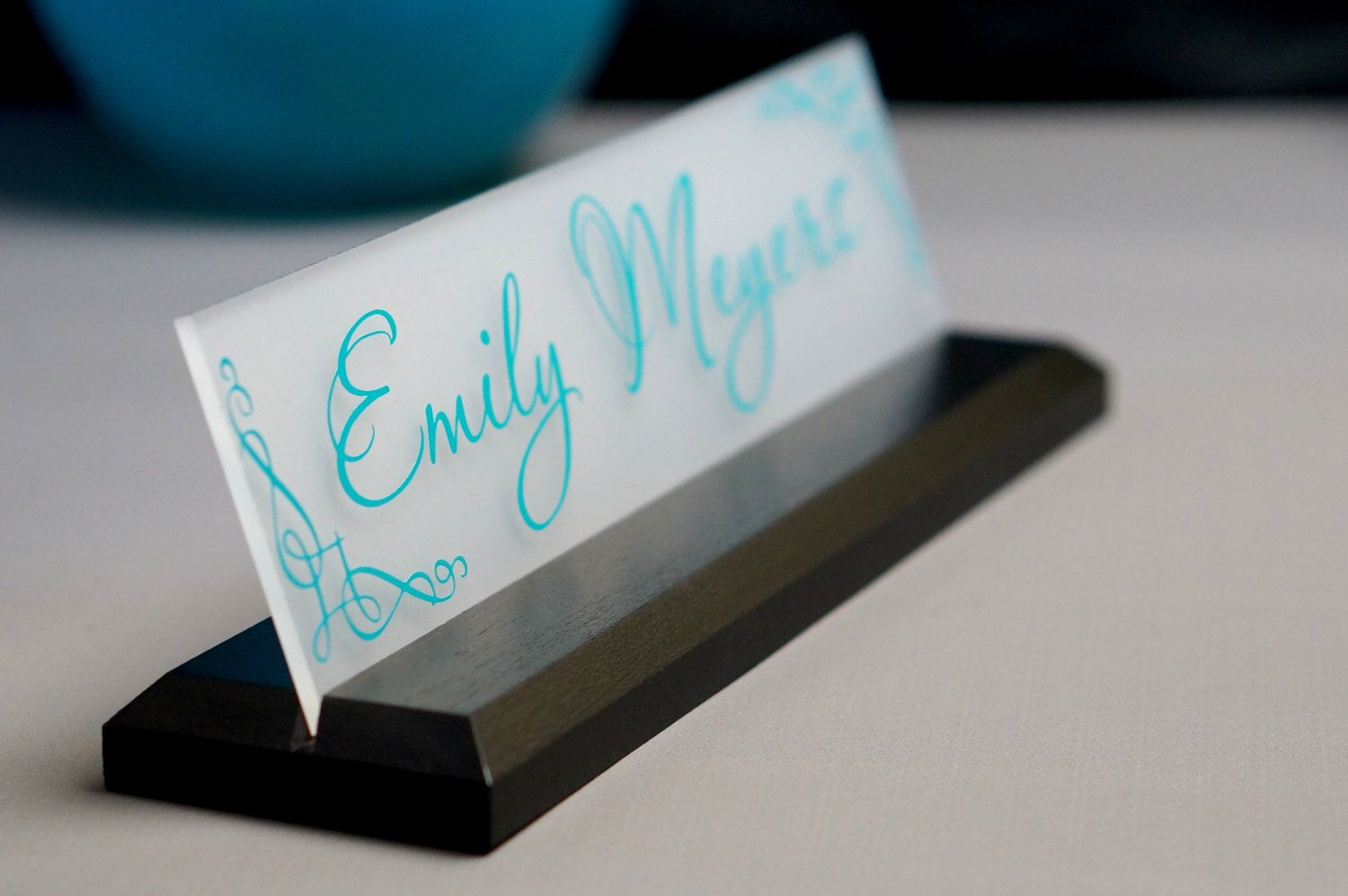 CoWorker Gift Desk NamePlate Personalized Professional ...