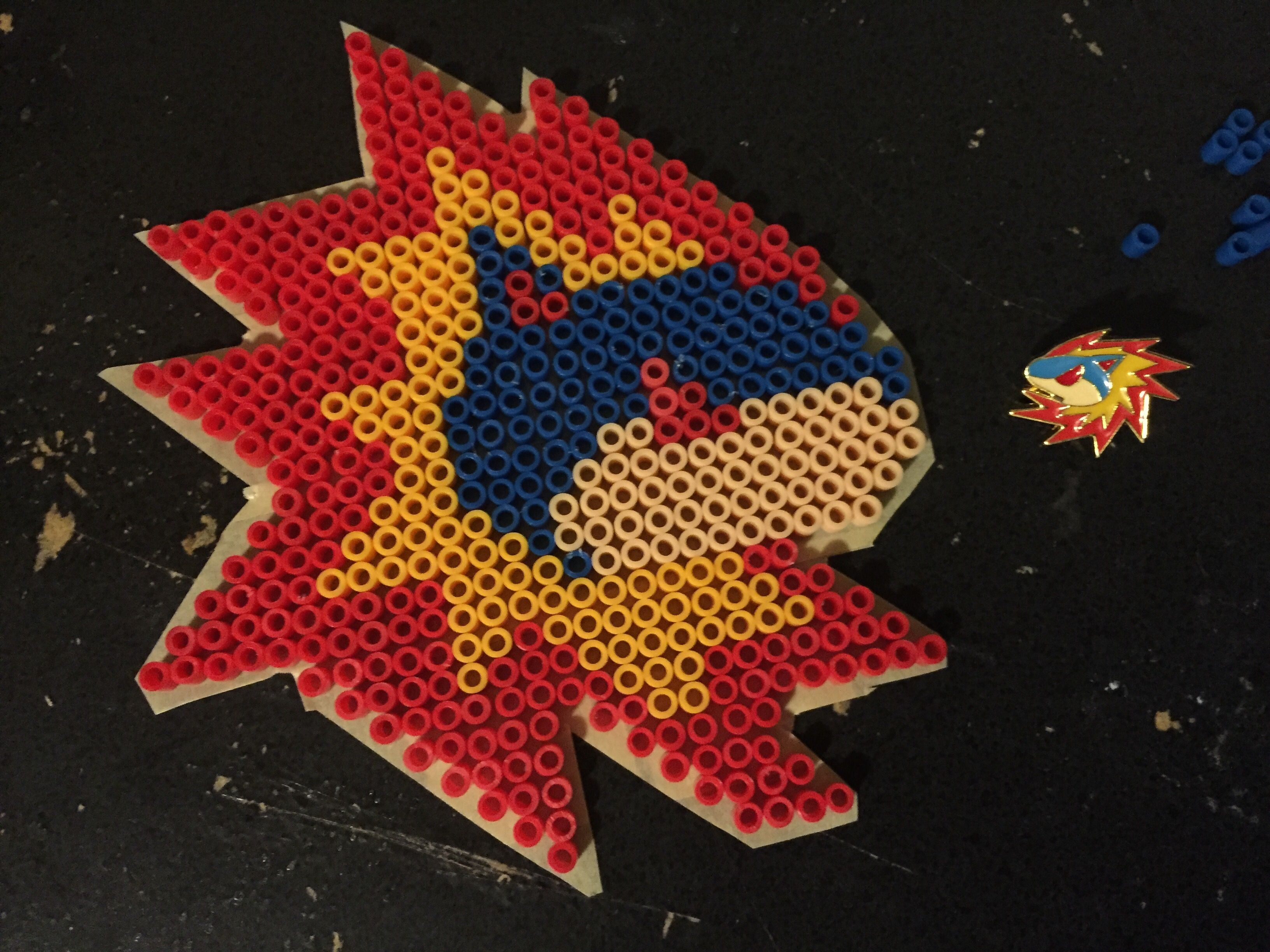Typhlosion pin perler bead wall Devo!