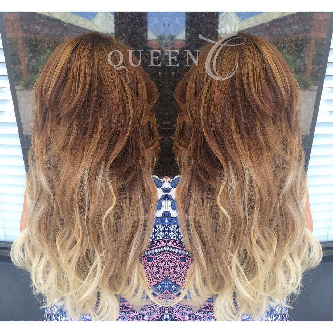 """Balayage Hair Color can be achieved with these Queen C Hair Extensions with no damage to your natural hair.    The Balayage Ash Brown/Ash Blonde clip-Ins in 18"""" - 140 grams look most fabulous."""