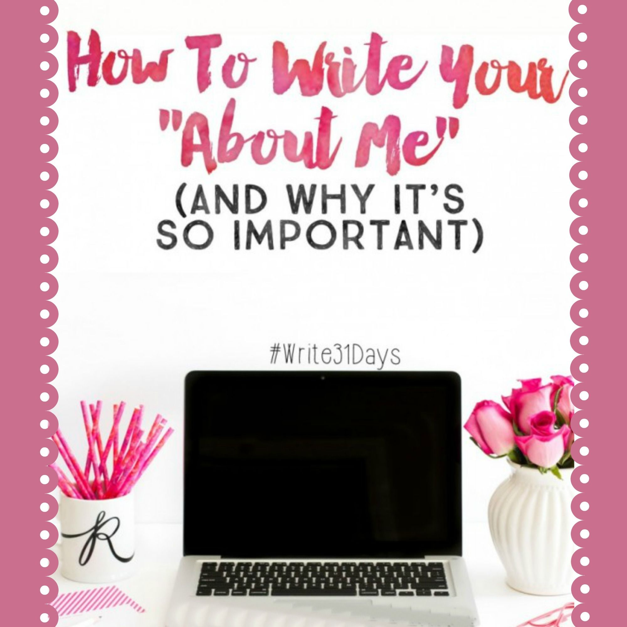 """How to Write Your """"About Me"""" (And Why It's So Important) - http://www.thesitsgirls.com/blogging/how-to-write-your-about-me-and-why-its-so-important/"""