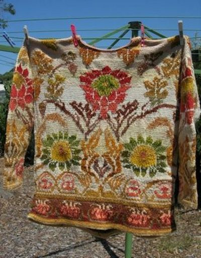 Morris Wallpaper sweater handknit by color4texture on Ravelry ...