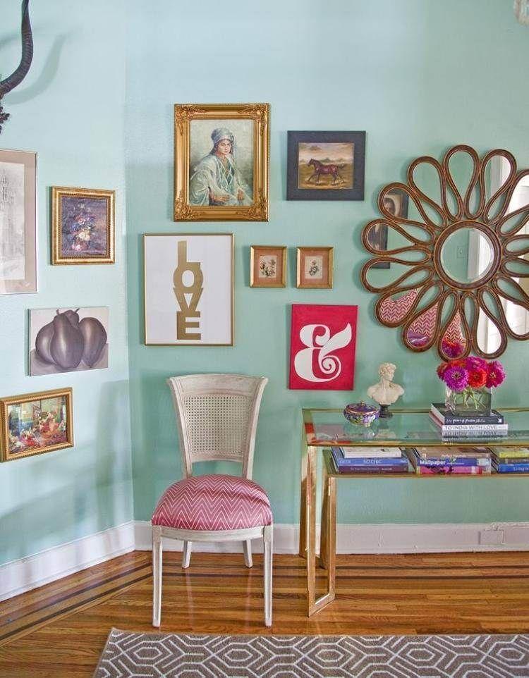 décoration murale en tableaux, images et miroir vintage
