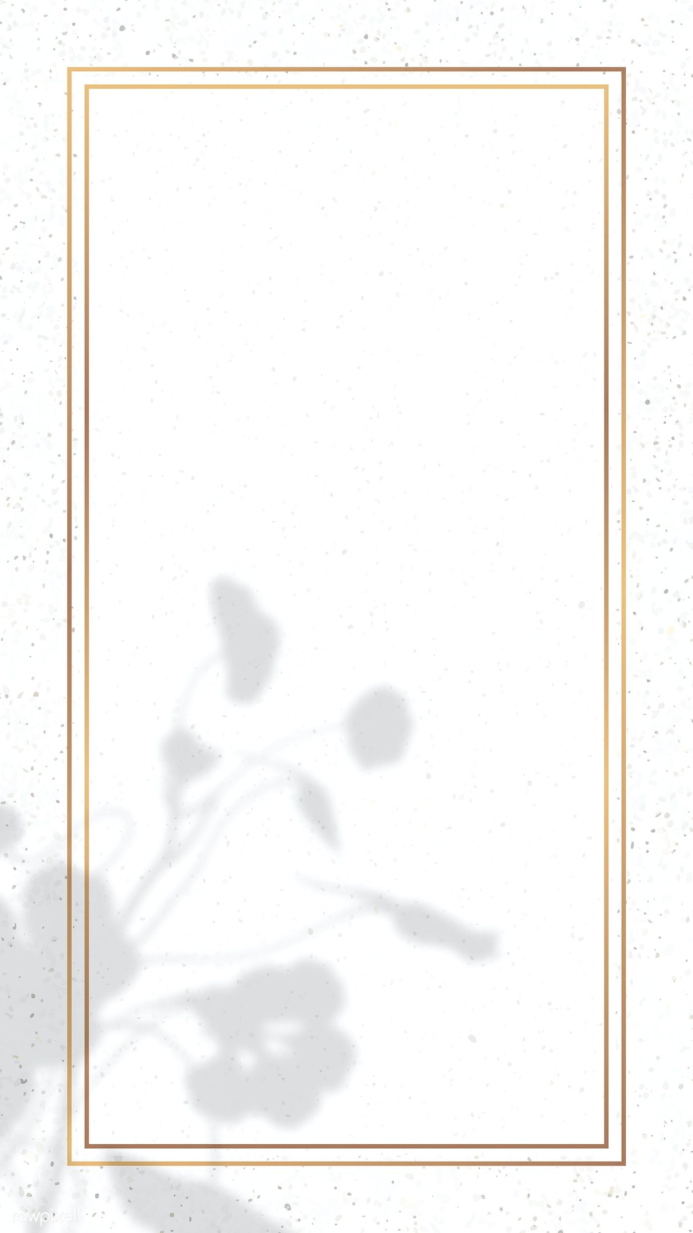 Rectangle Gold Frame With Floral Shadow On White Marble Background Vector Premium Image By Rawpixel Gold Frame Phone Wallpaper Design White Marble Background