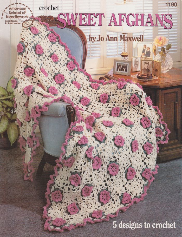 Sweet Afghans Crochet Patterns  5 Designs by Jo by PaperButtercup