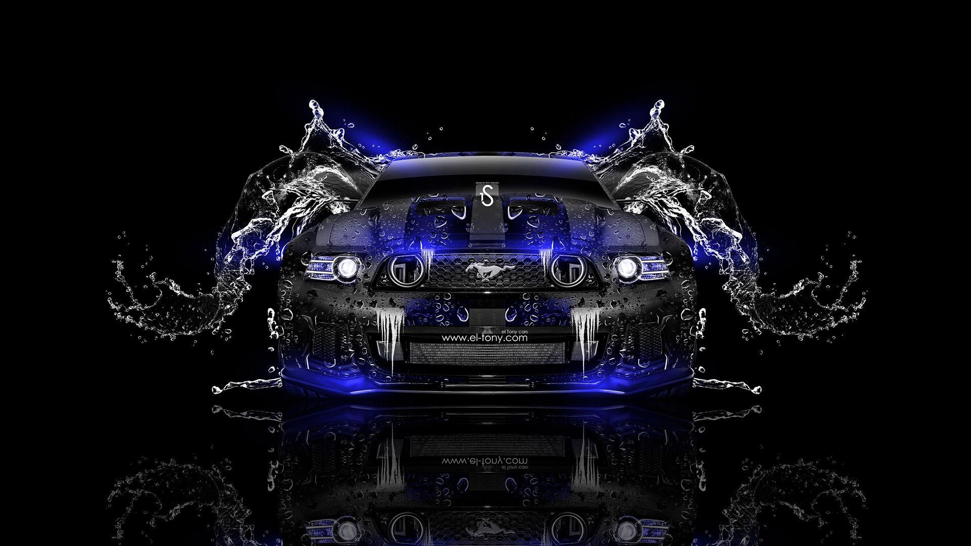 Ford-Mustang-GT-Water-Car-2014-Blue-Neon-design-by-Tony-Kokhan-www.el-tony.com_.jpg (1920×1080)